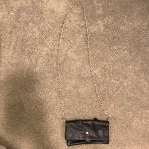 Small wallet cross body with gold chain